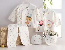 5pcs newborn baby kids Summer Clothing infant Cotton clothes Outfits & Sets