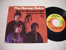 w PICTURE SLEEVE The Human Beinz Turn On Your Love Light 1968 45rpm GARAGE