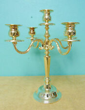 Candle Sticks Candelabra Silver Plated 5 places display home decor ornate table