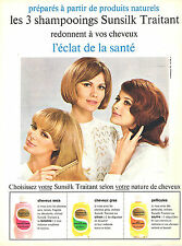 PUBLICITE ADVERTISING 124  1965  SUNSILK  shampoing traitant