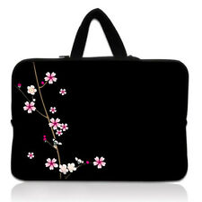 "Flower Black 15"" 15.4"" Laptop Handle Case Pouch Bag 15.6"" Notebook Sleeve Cover"