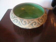 Antique Red Wing Stoneware Brushware Arts & Crafts Era Enamel Green Bowl