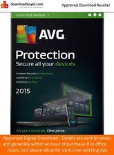 Avg protección 2015 - 1 year/unlimited dispositivos - (aprobado descarga Digital)