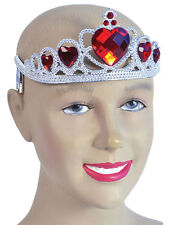 Alice in Wonderland Queen Of Hearts Princess Tiara Panto Prop Womens Girls Fancy