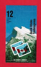 1992 CARNET TIMBRES CANADA BOOKLET  STAMPS #  1388 **  BK141b  QUICK STICKS FLAG
