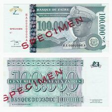 1996 ZAIRE 100,000 New Zaires *SPECIMEN* P77As - UNC.