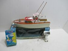 COMMODORE CABIN CRUSER BOAT WITH LANGCRAFT OUTBOARD MOTOR NEAR MINT IN BOX