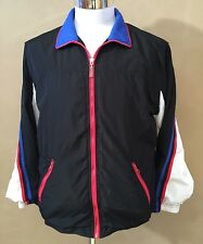 MINT COND VTG 80s 90s EVR WOMENS LARGE MULTICOLOR WINDBREAKER ATHLETIC JACKET