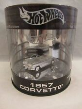 Hot Wheels Oil Can  1957 Corvette  Silver  NIB  1:64 scale  (1215)  B6255