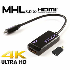MHL 3.0 USB to HDMI 4K ULTRA HDTV Adapter for Note4,Samsung Galaxy/Xperia Z2 Z3