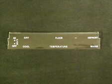 71-73 Mustang/Cougar Heater Only Climate Control Faceplate