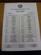 19/01/2014 Teamsheet: Getafe B v Real Madrid C. Thanks for viewing our item, if