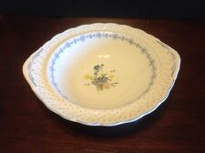 Nikko Blue Peony 11 Inch Handled Round Vegetable Bowl