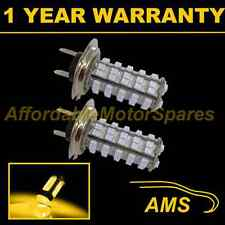 2X H7 YELLOW 60 LED FRONT FOG SPOT LAMP LIGHT BULBS HIGH POWER XENON FF500301