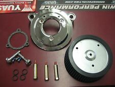 HIGH FLOW AIR CLEANER KIT CHROME HARLEY TWIN CAM 2008-13 TOURING EFI STAGE 1