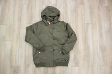 Obey Men's Army Green Parka Winter Fashion Jacket Medium