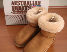 NEW Australia Sheepskin Boots by Beach Feet Size 6 Suede Ankle Boots