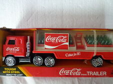 COKE COCA COLA BUDDYL MACK TRUCK COKE TRAILER  W/ 5 CASES AND CART