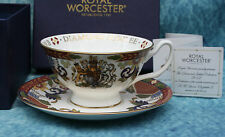 Royal Worcester Queen Elizabeth II Diamond Jubilee Cup & Saucer Boxed