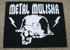 "METAL MULISHA Skull Canvas Helmet Skate Patch 4.5"" motocross skateboard sew on"