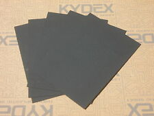 22 PIECES KYDEX T SHEET 297x210x1MM P-1 HAIRCELL BLACK 52000 For Sheath Holster