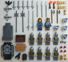 10 LEGO CASTLE KNIGHT MINIFIG LOT figures people king men CROWN minifigures guys