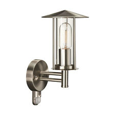 Outdoor Wall Light With PIR Sensor In Stainless Steel By Philips IP44 - Houston