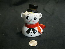 Vintage Happy Frosty the Snowman Bust Salt and Pepper Shakers Ceramic    65