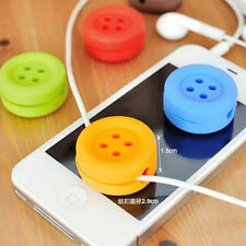 2pcs Bobbin Winder  Button Cable Cord Wire Organizer Wrap For Headphone HC