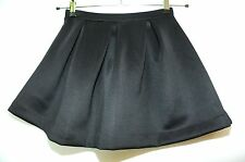 BLACK LADIES MINI SKIRT SIZE UK8 EUXS A-LINE BUBBLE BOOHOO PARTY CASUAL STRETCHY