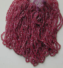 Antique Purple Berry Czech Glass CL Micro Seed Beads FOUR Mini Hanks 12/0 22bpi