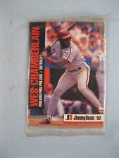 3 Jimmy Dean Baseball Cards In Original Plastic Packaging 1992 Chamberlain (O)