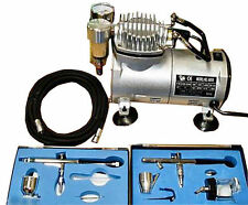 AS18 Airbrush With Compressor Double Action Air Brush Spray Kit Paint Stencil