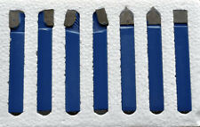 "1/2"" CARBIDE TIP TOOL BITS 7 PC SET LATHE TOOL & MILLING CUTTING TOOLS"