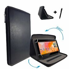 "7 inch Case Cover Book For Samsung Galaxy Tab A6 Tablet - Zipper 7"" Black"