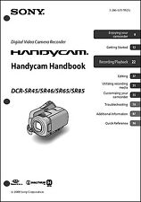 Sony DCR-SR45 DCR-SR46 DCR-SX65 DCR-SR85 Handycam User Instruction Guide  M
