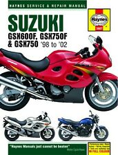 NEW Haynes Manual Suzuki GSX600F 1998-2004,GSX750,F 1998-2002