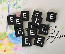 10 (TEN) Letter E, Black  Scrabble Tiles Letters, Individual, A to Z in Stock!