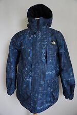 NWOT North Face Hyvent navy tribal print hooded winter insulated jacket mens XL