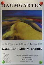 BAUMGARTEN expo Galerie Claire M. Laurin Aix en Provence AFFICHE ORIGINALE/10PB