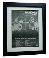 RAMONES+It's Alive+POSTER+AD+RARE ORIGINAL 1979+QUALITY FRAMED+FAST GLOBAL SHIP
