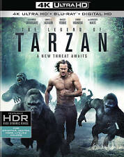 The Legend of Tarzan 4K Ultra HD + Blu Ray + Digital HD Brand New Movie