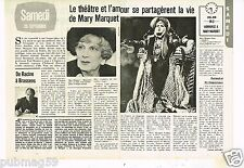 Coupure de presse Clipping 1979 (2 pages) Mary Marquet