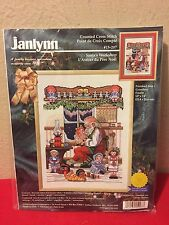 "Janlynn 15-207 Santas Workshop Counted Cross Stitch Kit 10"" x 14"""