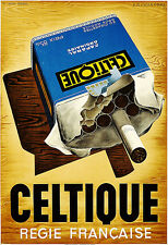 Art Ad Celtique  1936  Cigarettes Cigs French  Deco Poster Print