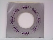 1-CAPITOL  RECORD COMPANY 45's SLEEVES  LOT # 123-G