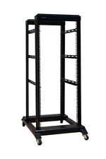 """27U 4 Post Open Frame Network Server Rack 19"""" 16"""" Deep With 3 Pairs of L Rails"""