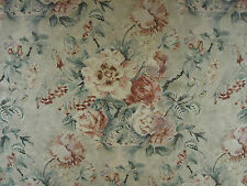 "SANDERSON CURTAIN FABRIC DESIGN ""Giselle"" 1.7 METRES DOVE/PINK FABIENNE PRINTS"