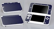 Blue Carbon Fiber Vinyl Decal Cover Skin Sticker for Nintendo 3DS XL/LL