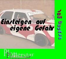Einsteigen Gefahr Turbo  JDM Sticker Aufkleber oem PS Power fun Shocker